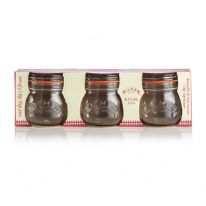 Kilner Set Of 3 Round Clip Top Jars 0.5 Litre